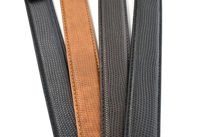 アンティークレザーリザードエンボス ベルト 30mm幅 「プレリーギンザ」 NB12890 商品特徴