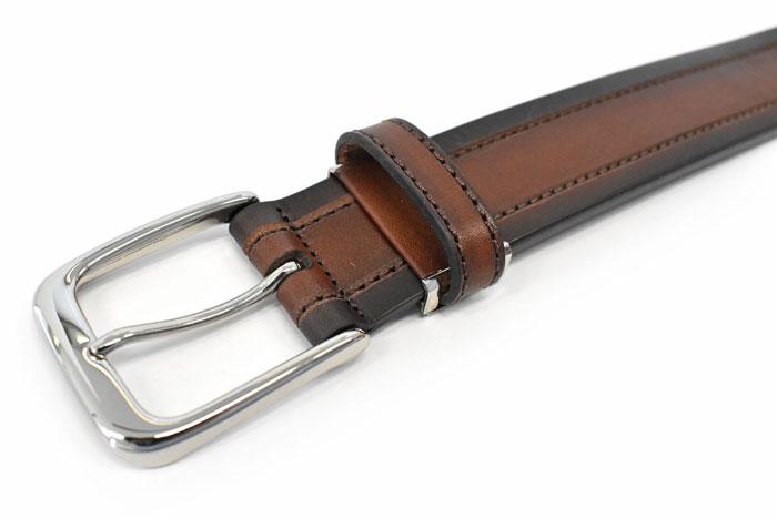 一枚革 シャドーフィニッシュ ベルト 「プレリーギンザ」 NB18590 商品特徴