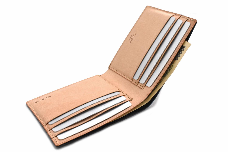 ナチュラルコードバン スマートコンパクト 二つ折り財布(小銭入れなし) 「プレリーギンザ」 NP47222 商品特徴