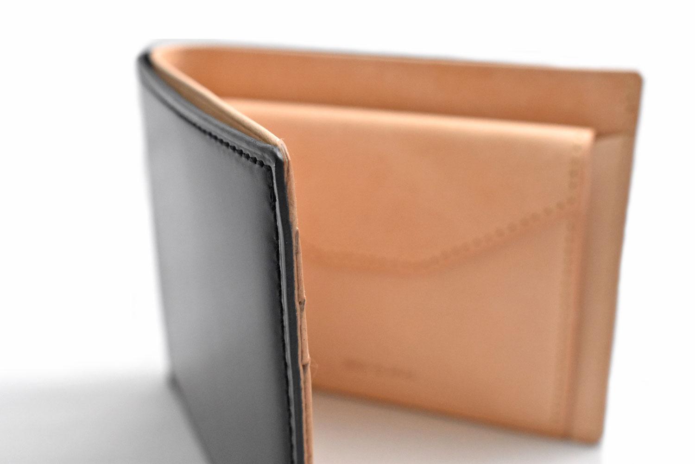 ナチュラルコードバン スマートコンパクト 二つ折り財布(小銭入れあり) 「プレリーギンザ」 NP47724 商品特徴