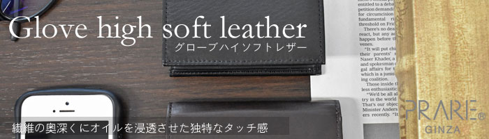 Glove high soft leather(グローブハイソフトレザー)「プレリーギンザ」 タイトル画像