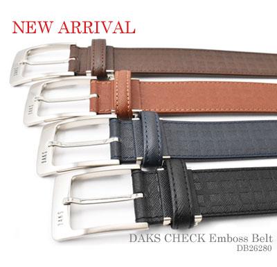 牛革 ダックスチェック型押しベルト 「ダックス」 DB26280 新着画像