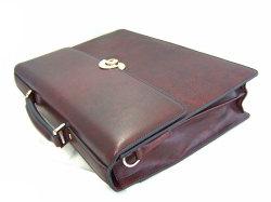 オックスフォード ビジネスバッグ 「ゴールドファイル」 901503 バーガンディ 側面