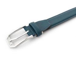 アンティークカラーベルト 30mm幅 ピン式 「ゴールドファイル」 GB56210 ブルー 正面