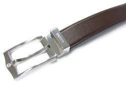 CROWN(クラウン) フランスボックスカーフレザー 30mm幅 ピン式 ベルト 「ゴールドファイル」 GB59915 チョコ 特徴