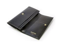 オックスフォード コンパクト長財布(小銭入れあり) 「ゴールドファイル」 GP10220 ブラック 内作り