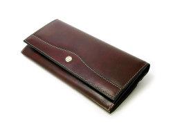 オックスフォード コンパクト長財布(小銭入れあり) 「ゴールドファイル」 GP10220 バーガンディ 正面