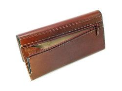 オックスフォード コンパクト長財布(小銭入れあり) 「ゴールドファイル」 GP10220 スコッチ 裏面