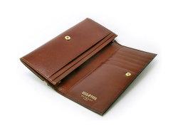 オックスフォード コンパクト長財布(小銭入れあり) 「ゴールドファイル」 GP10220 スコッチ 内作り