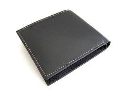 オックスフォード 二つ折り財布(BOX小銭入れあり) 「ゴールドファイル」 GP10420 ブラック 裏面