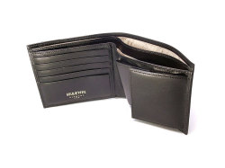 オックスフォード 二つ折り財布(BOX小銭入れあり) 「ゴールドファイル」 GP10420 ブラック 内作り