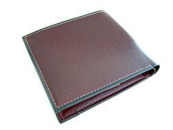 オックスフォード 二つ折り財布(BOX小銭入れあり) 「ゴールドファイル」 GP10420 バーガンディ 裏面