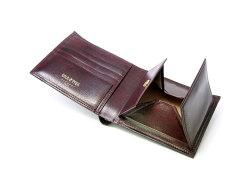 オックスフォード 二つ折り財布(BOX小銭入れあり) 「ゴールドファイル」 GP10420 バーガンディ 内作り
