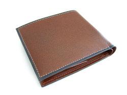 オックスフォード 二つ折り財布(BOX小銭入れあり) 「ゴールドファイル」 GP10420 スコッチ 裏面