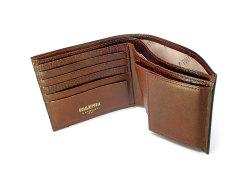 オックスフォード 二つ折り財布(BOX小銭入れあり) 「ゴールドファイル」 GP10420 スコッチ 内作り
