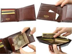 オックスフォード 二つ折り財布(BOX小銭入れあり) 「ゴールドファイル」 GP10420 イメージ画像 4コマ