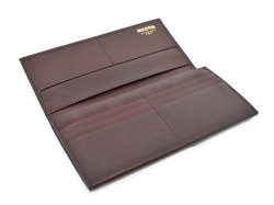 オックスフォード 長財布(小銭入れあり) 「ゴールドファイル」 GP11923 バーガンディ 内作り