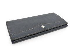 オックスフォード 長財布(小銭入れあり) 「ゴールドファイル」 GP11923 ネイビー 正面