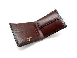 ヘリテージ 二つ折り財布(小銭入れあり) 「ゴールドファイル」 GP23120 クロ 内作り