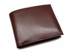 ヘリテージ 二つ折り財布(小銭入れあり) 「ゴールドファイル」 GP23120 バーガンディ 正面