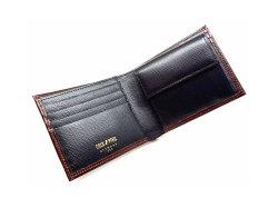 ヘリテージ 二つ折り財布(小銭入れあり) 「ゴールドファイル」 GP23120 バーガンディ 内作り