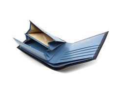 ヘリテージ 二つ折り財布(小銭入れあり) 「ゴールドファイル」 GP23120 ネイビー 内作り