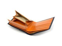 ヘリテージ 二つ折り財布(小銭入れあり) 「ゴールドファイル」 GP23120 オレンジ 内作り