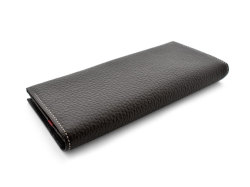 Superior(スペリオール) 長財布(小銭入れあり) 「ゴールドファイル」 GP24118 ダークブラウン 裏面