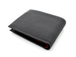Superior(スペリオール) 二つ折り財布(小銭入れあり) 「ゴールドファイル」 GP24217 ブラック 裏面