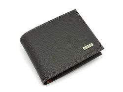 Superior(スペリオール) 二つ折り財布(小銭入れあり) 「ゴールドファイル」 GP24217 ブラック 正面