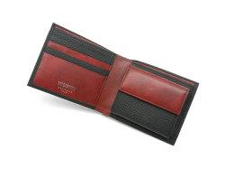 Superior(スペリオール) 二つ折り財布(小銭入れあり) 「ゴールドファイル」 GP24217 ブラック 内作り