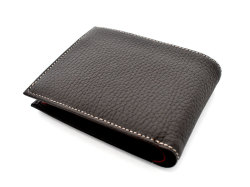 Superior(スペリオール) 二つ折り財布(小銭入れあり) 「ゴールドファイル」 GP24217 ダークブラウン 裏面