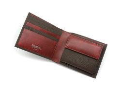 Superior(スペリオール) 二つ折り財布(小銭入れあり) 「ゴールドファイル」 GP24217 ダークブラウン 内作り