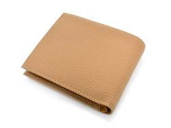 Superior(スペリオール) 二つ折り財布(小銭入れあり) 「ゴールドファイル」 GP24217 マロン 裏面