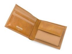 Superior(スペリオール) 二つ折り財布(小銭入れあり) 「ゴールドファイル」 GP24217 マロン 内作り