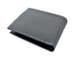 Superior(スペリオール) 二つ折り財布(小銭入れあり) 「ゴールドファイル」 GP24217 ネイビー 裏面