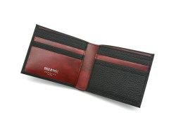 Superior(スペリオール) 二つ折り財布(小銭入れなし)  「ゴールドファイル」 GP24315 ブラック 内作り
