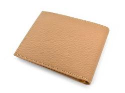 Superior(スペリオール) 二つ折り財布(小銭入れなし)  「ゴールドファイル」 GP24315 マロン 裏面