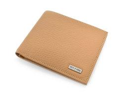 Superior(スペリオール) 二つ折り財布(小銭入れなし)  「ゴールドファイル」 GP24315 マロン 正面
