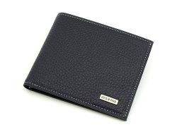 Superior(スペリオール) 二つ折り財布(小銭入れなし)  「ゴールドファイル」 GP24315 ネイビー 正面