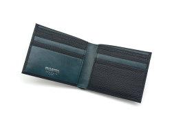 Superior(スペリオール) 二つ折り財布(小銭入れなし)  「ゴールドファイル」 GP24315 ネイビー 内作り