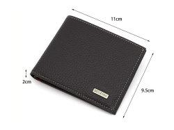 Superior(スペリオール) 二つ折り財布(小銭入れなし)  「ゴールドファイル」 GP24315 サイズ