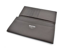 Wilhelm(ウィルヘルム) 長財布(小銭入れあり) 「ゴールドファイル」 GP25119 ダークブラウン 内作り