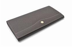 フリードリヒ 長財布(小銭入れあり) 「ゴールドファイル」 GP26030 ダークブラウン 正面