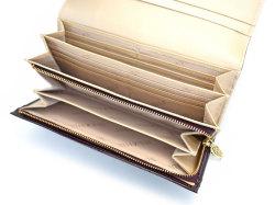 モノグラム 長財布 「ゴールドファイル」 GP36015 バーガンディ 内作り