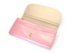 モノグラム 長財布 「ゴールドファイル」 GP36015 ピンク 内作り
