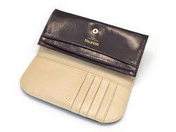 モノグラム コンパクト長財布 「ゴールドファイル」 GP36210 バーガンディ 内作り