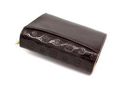 モノグラム 二つ折り財布(小銭入れあり) 「ゴールドファイル」 GP36315 バーガンディ 裏面