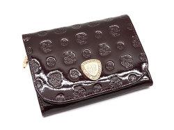 モノグラム 二つ折り財布(小銭入れあり) 「ゴールドファイル」 GP36315 バーガンディ 正面