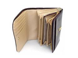 モノグラム 二つ折り財布(小銭入れあり) 「ゴールドファイル」 GP36315 バーガンディ 内作り